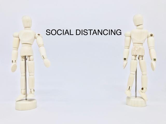 対人距離を注意される